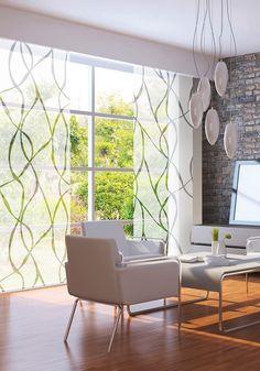 Elegant, wohnlich und sehr textil passen sich diese Flächenvorhänge jedem…