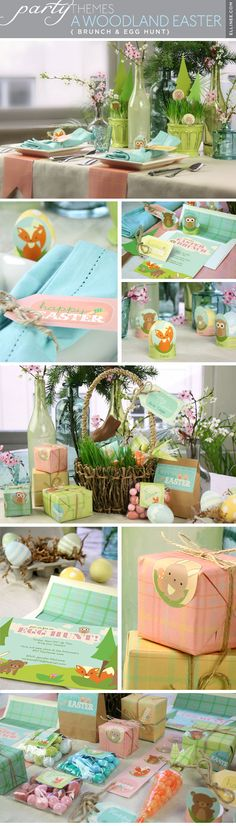 Adorable! Free printables for a Woodland Creatures Easter table. I love it.