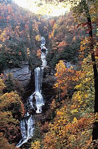 Raven Cliff Falls, Caesars Head State Park, South Carolina. We all hiked in to see it. Gorgeous.