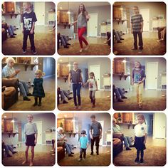 back to school fashion show - such a fun tradition - the kids love showing the family their new school clothes!