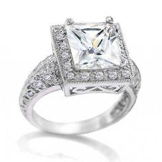 i like diamond in different cut~ Classic Engagement Rings, Diamond Engagement Rings, Bling Jewelry, Diamond Jewelry, 3 Carat, Stylish Jewelry, Sterling Silver Jewelry, Jewelry Making, Wedding Rings