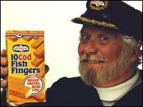 """Captain Birds Eye Fish Fingers are so good... The advert though was rather 'Kiddie Fiddler' Friendly... Man with hat and beard in his 60's """"hanging"""" with no adults only children alone!! on his boat and saying Mums go buy my fish fingers in a Ooo arr Me harties pirate talk, Or else the kid with the glasses get it. I'm pretty sure that was the advert.."""
