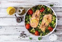 Pečeni losos s povrćem - http://noninazdravakuhinja.com/recept/peceni-losos-s-povrcem/