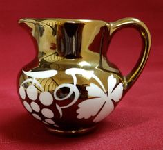 Your place to buy and sell all things handmade English Pottery, Shades Of Yellow, Art Deco Design, Vintage Shoes, Bristol, Luster, Amber, Copper, England