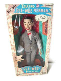 Vintage Rare Pee Wee Herman 18 Inch Talking by BeckVintage on Etsy, $75.00