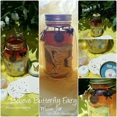 Gorgeous jar for Gratitude catching  ::: one of a kind :::   http://caroleanzolletti.com/store/p194/Believe_Butterfly_Fairy_Moon_Jar.html