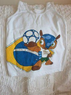 Infantil com Mascote e Bandeira do brasil