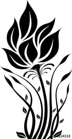 Stencil Patterns, Stencil Painting, Stencil Designs, Fabric Painting, Flower Silhouette, Silhouette Art, 3d Quilling, Scroll Saw Patterns, Motif Floral