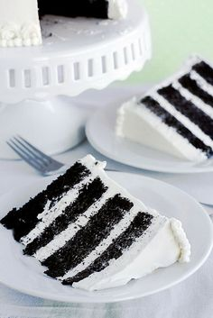 Chocolate cake with Vanilla Italian Meringue Buttercream                          3 by Kaitlin F, via Flickr