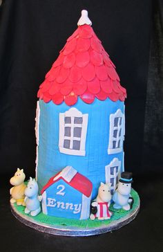 Moomin house cake Moomin House, Pink Lemon, House Cake, Fabulous Foods, Birthday Cakes, Gingerbread, Cooking, Anniversary Cakes, Baking Center