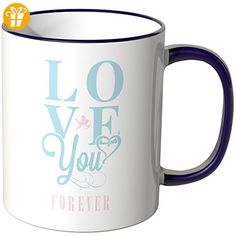 "Wandkings® Tasse, Schriftzug ""LOVE you FOREVER"" - LILA - Tassen mit Spruch | Lustige Kaffeebecher (*Partner-Link)"