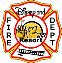 disneyland fire department   Disneyland Fire Department Decal