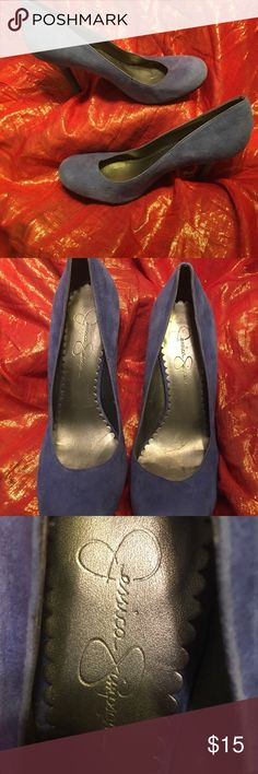 Jessica Simpson pumps Blue suede Jessica Simpson pumps.  Gently worn Jessica Simpson Shoes Heels