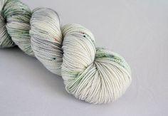 white birch- hand dyed yarn- acorn 80/20 superwash merino sock
