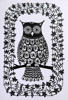 'Flower Owl' by Suzy Taylor