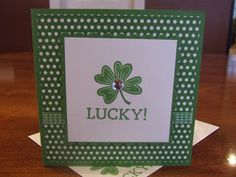 *Stampin' Up, by Amy Frillici, Gathering Inkspiration **order products online at amysuzanne.stampinup.net, St. Patrick's Day card