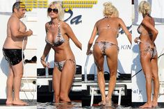 Victoria Silvstedt & King Sugar Daddy Maurice Dabbah  in Porto Cervo, Italy