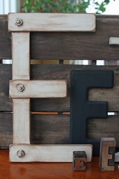 DIY:  How to Make Straight-Sided Letters and Shapes from Paint Stir Sticks - Mamie Jane's: Letter Perfect