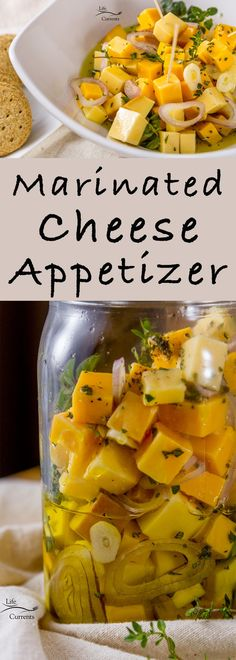 Marinated Cheese and Herbs Appetizer - perfect for holiday. Marinated Cheese and Herbs Appetizer - perfect for holiday parties new years eve parties or any potluck! Cheese Appetizers, Finger Food Appetizers, Yummy Appetizers, Appetizers For Party, Appetizer Recipes, Tailgate Appetizers, Simple Appetizers, Cheese Dips, Seafood Appetizers