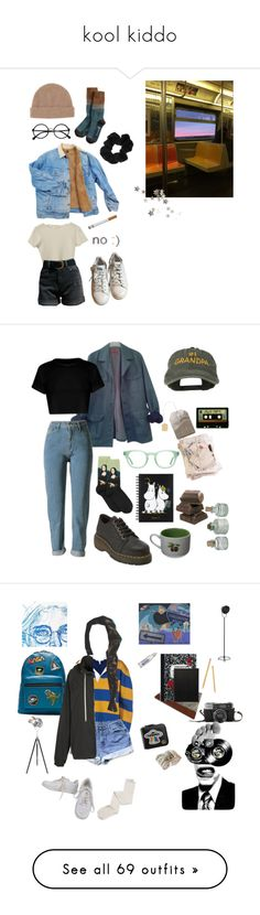 """kool kiddo"" by lanarino ❤ liked on Polyvore featuring adidas, Toast, BDG, Retrò, tumblr, grunge, HUGO, HOT SOX, Dr. Martens and Pillivuyt"