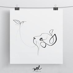 Close Encounter Cat Calligraphy 8x8 Limited by WithOneLine