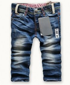 Retail fashion cool cotton denim boys jeans brand children's long pants for 2-10 years kids girls pants 1pcs baby gift hot sell