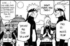 Naruto and Ino. Naruto Couples, Anime Couples, Naruto Shippuden Sasuke, Boruto, Naruto Characters, Female Characters, Lavender Bush, Clover Flower, Naruto Comic