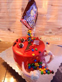 #Gravity #Defying #M&M's #Birthday #Cake #Red