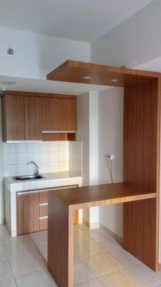 Kitchen Room Design, Home Room Design, Modern Kitchen Design, Home Decor Kitchen, Interior Design Kitchen, Kitchen Sets, Kitchen Island, Small Apartment Kitchen, Small Apartment Decorating