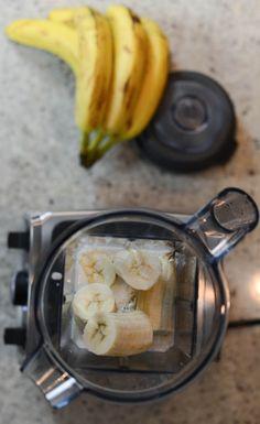 coconut ice cream in a Vitamix.