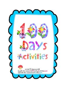 100th day activity packet...20 pages. FREE on TpT