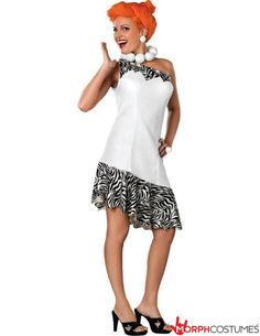 Couples Costume Inspiration: The Flintstones Wilma Flintstone Deluxe Costume is a top fancy dress idea for any TV, film or Ancient Times bash. Turn yourself into Fred Flintstone's long-suffering wife in this deluxe costume.