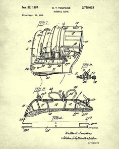 Golf club patent blueprint drawing giclee print rooms baseball glove patent print design baseball by fabvintageposters malvernweather Image collections