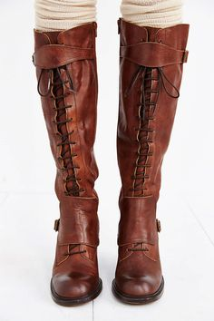 Jeffrey Campbell Lace-Up Tall Boot
