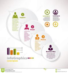 Illustration about Modern infographic template for business design with speech baloon. Illustration of paper, graphic, bussiness - 34315422 Workflow Design, Infographic Templates, Business Design, Finance, Google Search