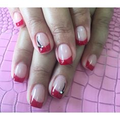 Acrylics with Gel French Style