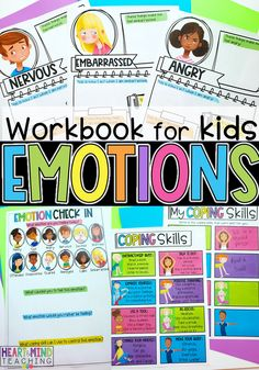 Teach coping skills and self-regulation skills with this social-emotional learning activity covering 25 emotions. Identify feelings and emotions including Anger, Worried, Sad, Scared, Calm, and more. Emotions activities for kids feelings are more important than ever. Teach kids life skills with this low prep lesson. Includes a digital version for use with Google Slides and Google Classroom for digital learning, online learning and homeschooling. #emotions #teachemotions Elementary School Counseling, School Counselor, Elementary Schools, Emotional Child, Social Emotional Learning, Emotions Activities, Learning Activities, Coping Skills, Life Skills