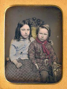 Children- notice the knit scarf on the boy.  Dennis A. Waters Fine Daguerreotypes