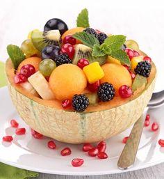 Ensaladas con frutas de temporada