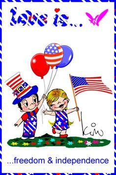 love is...Happy 4th of July,  Kim Casali Fan art