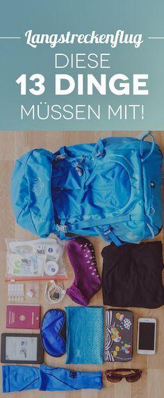 Langstreckenflug Tipps: Alles was du während des Fluges im Handgepäck dabei haben solltest.