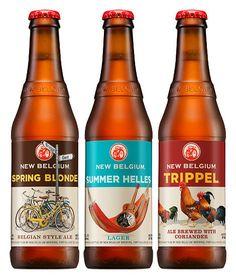 New Belgium Bottles in Beer