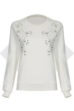 YOINS - Online clothes shopping inspired by the latest fashion trends Tops Online Shopping, Neckline Designs, White Tops, White White, Polyvore Outfits, Pretty Outfits, Crew Neck Sweatshirt, Tunic Tops, Sweatshirts