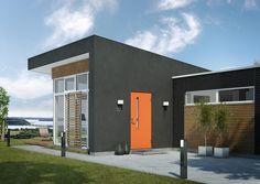 Volga ytterdør fra Swedoor Garage Doors, Mansions, House Styles, Outdoor Decor, Room, Furniture, Home Decor, Character, Identity