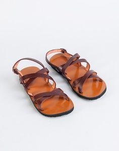 ecb77d008eef23 Buy Fabindia Brown Leather Crisscross 116 Sandal online -  Fabindia.com-Fulpy Social Shopping