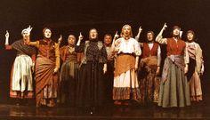 Girl Villagers with waist scarves Broadway Costumes, Fiddler On The Roof, Johnny Depp Movies, Edward Scissorhands, Helena Bonham Carter, Sweeney Todd, Orphan Black, Sleepy Hollow, Beetlejuice