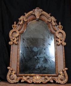 Large Victorian Gilt Pier Mirror Glass Mirrors Rococo