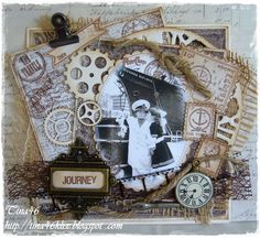 Journey ~ nautical Steampunk style heritage page.