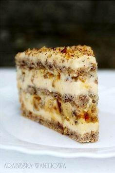 Tort egipski cake - Need to try this at some point. Polish Desserts, Polish Recipes, No Bake Desserts, Polish Food, Sweet Recipes, Cake Recipes, Dessert Recipes, Different Cakes, Sweet Cakes