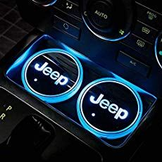 LED Car Logo Cup Holder Lights,Jeep Interior Accessories Waterproof Bottle Drinks Coaster Built-in Light 7 Colors USB Charging Mat Luminescent Cup Pad Atmosphere Lamp Decoration Light PCS) – Wheel And Deals - Auto Services and Repair, Car and Motorcycle Jeep Jk, Jeep Rubicon, Cute Car Accessories, Interior Accessories, Accessories Online, Accessoires Jeep, Auto Logo, Jeep Wrangler Accessories, Jeep Grand Cherokee Accessories